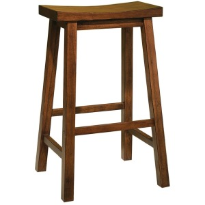 """""""Honey Brown"""" Bar Stool, 29″ Seat Height – overpacked"""