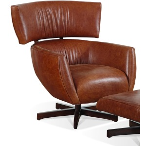 Nelson Leather Swivel Chair