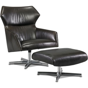 Sebastian Leather Swivel Chair