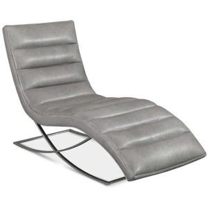 Felix Leather Armless Chaise