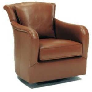 Dalton Leather Swivel Chair
