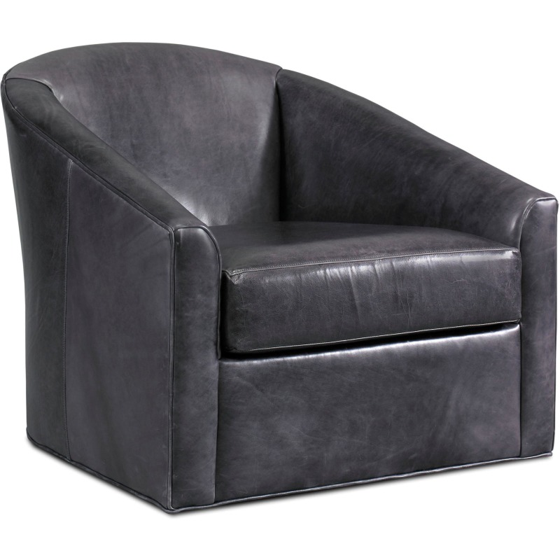 Tara Leather Swivel Chair