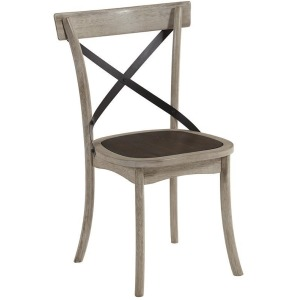 Winslet X Back Side Chair - Gingerbread/White Finish