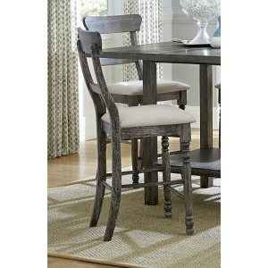 Muse Ladderback Counter Chair - Weathered Pepper