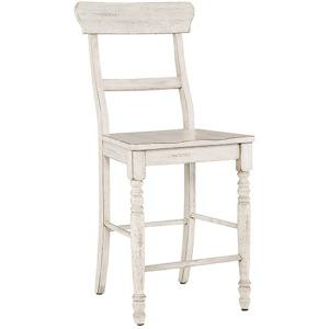 Savannah Court Counter Chair - Antique White
