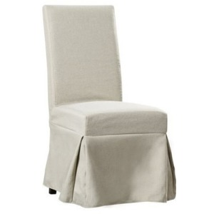 Upholstered Parsons Chair w/Cover