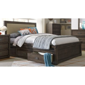 Queen Queen Footboard w/Slat Roll