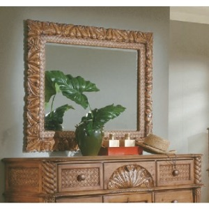 Carved Landscape Mirror