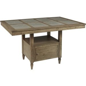 Keystone Tile Counter Table with Storage