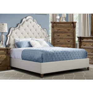 King King Mirrored Upholstered Headboard