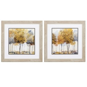 Golden Trees - Set of 2