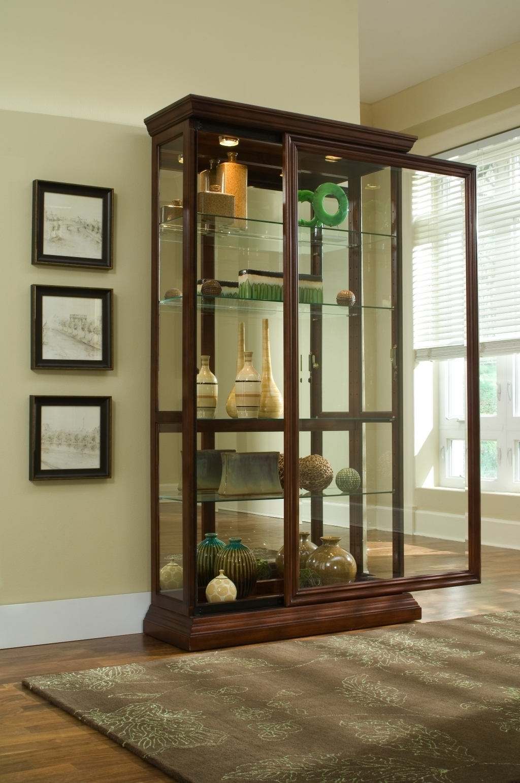 2 Way Sliding Door Curio Cabinet By Pulaski 20542 Missouri Furniture
