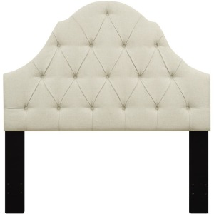 Upholstered King Headboard - Beige