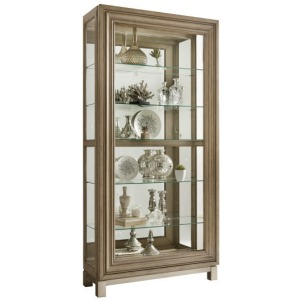 Metal Base Sliding Door Curio