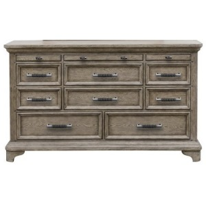 Bristol 11 Drawer Dresser in Elm Brown