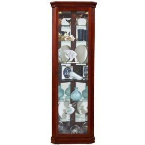 Lighted 8 Shelf Corner Curio Cabinet