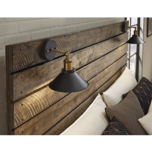 Dakota Queen Headboard with Sconce