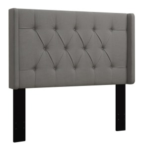 Upholstered King Headboard - Ash