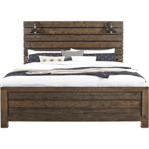 Dakota King Panel Bed with Sconces