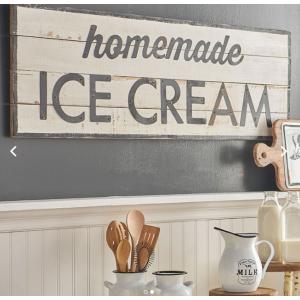 Homemade Ice Cream Sign