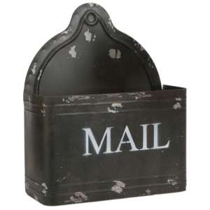 """12"""" Distressed Mail Holder"""