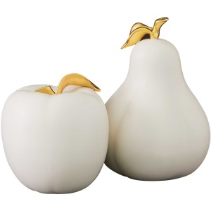 Apples and Pear Sculptures