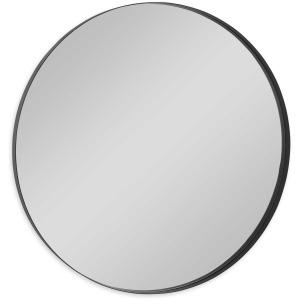 Padria Black Round Mirror