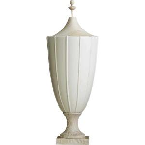 Crenulated Tall Urn - Matte White