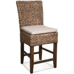 Woven Leaf Counter Stool