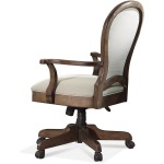 Round Back Upholstered Desk Chair