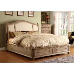 Coventry Queen Upholstered Sleigh Storage Bed