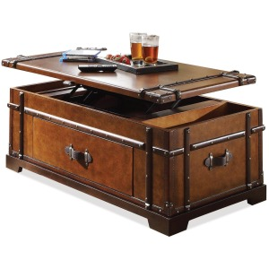 Latitudes Steamer Trunk Lift Top Coffee Table