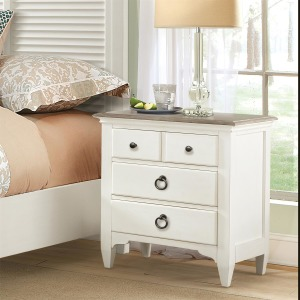 Myra Three Drawer Nightstand