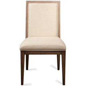 Cane Upholstered Side Chair