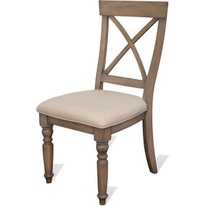 Aberdeen Upholstered X-Back Side Chair