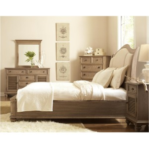 Coventry Queen Sleigh/Upholstered Bed