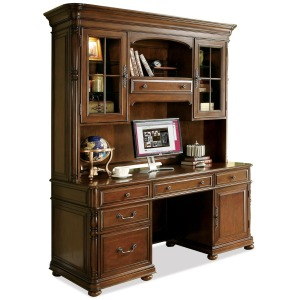Bristol Court Computer Credenza And Hutch