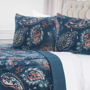 Queen Quilt - Printed Velvet Hand Quilted Pattern