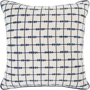 White Blue Geo Pillow
