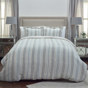 Queen Duvet - Natural /Grey