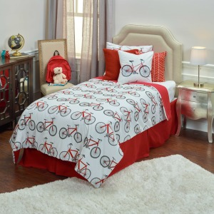 Kids Bicycle Comforter Set- Full/Queen