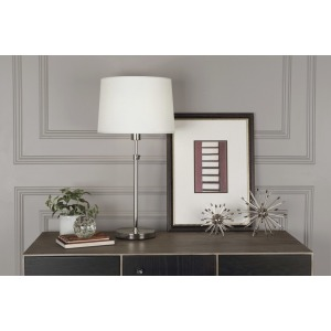 Koleman Table Lamp in Polished Nickel