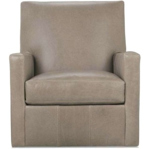 Carlyn Leather Swivel Glider