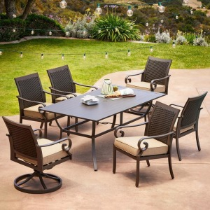 Milano 7pc Dining Set - Tan