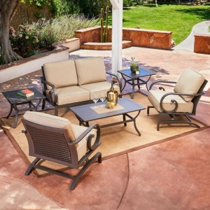 Milano 6pc Seating Set - Tan
