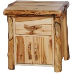Night Stand in Flat Front (24″W) Natural Panel & Natural Log