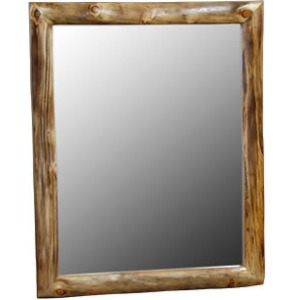 36″W Mirror in Natural Log