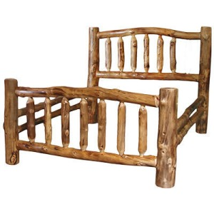 Corral Queen Bed in Natural Log
