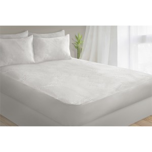 Mattress Protector Bamboo Jacquard 39x76 T Ivory