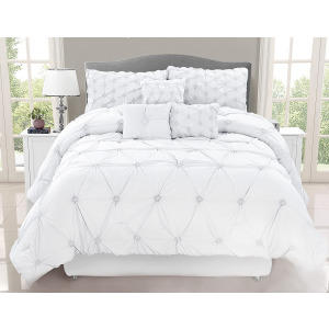 Chateau 7PC Queen Comforter  White